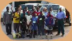 Photograph of the orphans and their escorts just before we set off.